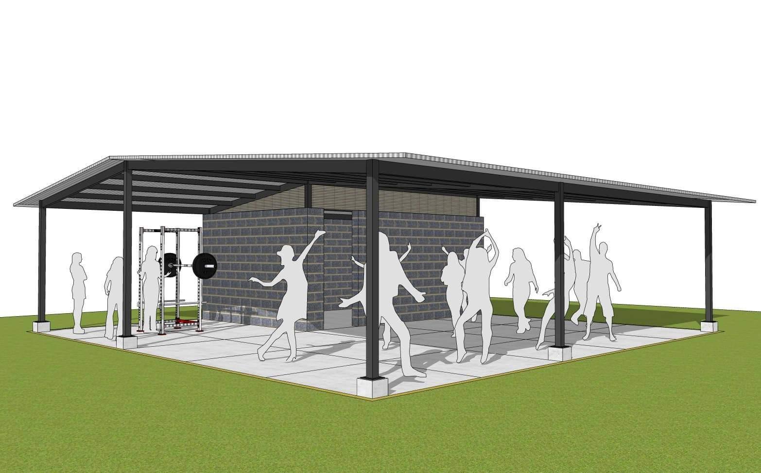 Covid-safer outdoor gym design